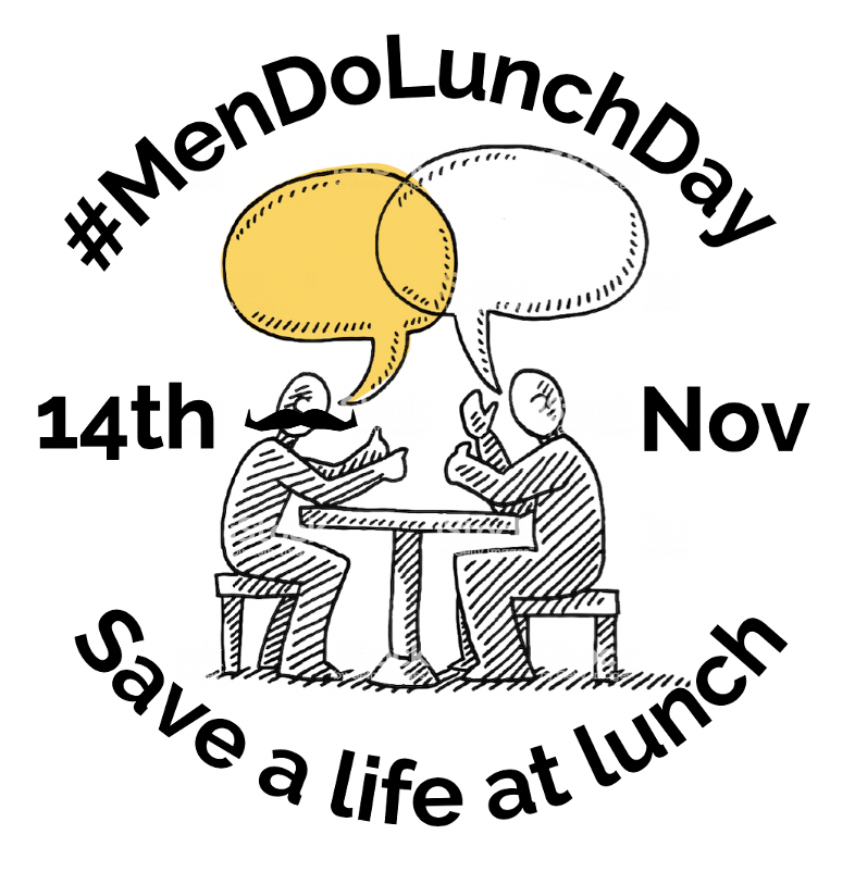 #MenDoLunchDay added a moustache because we support Movember